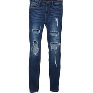 Cello Women's Rips Holes Midrise Roll Cuff Jeans